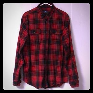 Men's George brand flannel shirt size Large